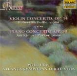 BARBER - Levi - Concerto pour violon op.14