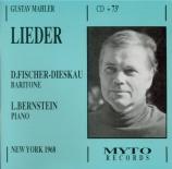 MAHLER - Fischer-Dieskau - Serenade aus 'Don Juan', pour voix et piano