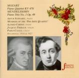 MOZART - Schnabel - Quatuor pour piano et cordes en sol mineur K.478