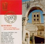 SCHUBERT - Kantarow - Octuor en fa majeur pour cordes et vents op.posth
