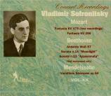 MOZART - Sofronitsky - Fantaisie pour piano en do mineur K.475 (Vol.XX) Vol.XX