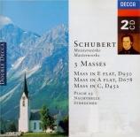 SCHUBERT - Guest - Messe n°5 en la bémol majeur, pour solistes, chœur, o