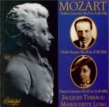 MOZART - Thibaud - Concerto pour violon n°5 'Turkish' K.219