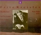BEETHOVEN - Kreisler - Sonate pour violon et piano n°9 op.47 'Kreutzer'