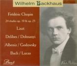 CHOPIN - Backhaus - Douze études pour piano op.10