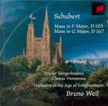 SCHUBERT - Weil - Messe n°1 en fa majeur, pour solistes, choeur, orchestr