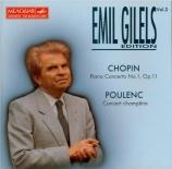 CHOPIN - Gilels - Concerto pour piano et orchestre n°1 en mi mineur op.1