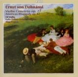 DOHNANYI - Wallin - Concerto pour violon n°1 op.27