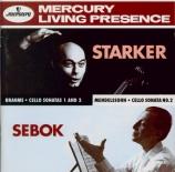 BRAHMS - Starker - Sonate pour violoncelle et piano n°1 en mi mineur op