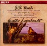 BACH - Leonhardt - Durchlauchtster Leopold, cantate pour solistes, choeur