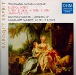 MOZART - Kuijken - Quatuor avec flûte n°1 K.285