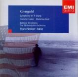 KORNGOLD - Welser-Möst - Symphonie op.40 en fa dièse majeur