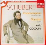 SCHUBERT - Ciccolini - Quatre impromptus, pour piano op.90 D.899