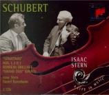SCHUBERT - Stern - Sonatine pour piano et violon en ré majeur op.posth.1
