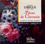 LEBEGUE - Lapointe - Premier livre de clavecin (1677)