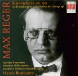 REGER - Bongartz - Sinfonietta pour orchestre en la majeur op.90