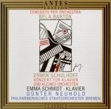 SCHULHOFF - Schmidt - Concerto pour piano et petit orchestre op.43