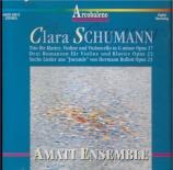 SCHUMANN-WIECK - Amati Ensemble - Trio avec piano en sol mineur op.17