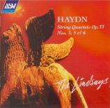 HAYDN - Lindsay String - Quatuor à cordes n°39 en do majeur op.33 n°3 H