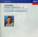 CHOPIN - Ashkenazy - Sonate pour piano n°1 en do mineur op.4