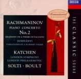 RACHMANINOV - Katchen - Concerto pour piano n°2 en ut mineur op.18