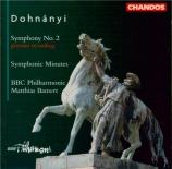 DOHNANYI - Bamert - Minutes symphoniques op.36