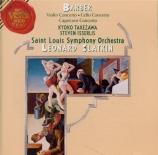 BARBER - Slatkin - Concerto pour violon op.14