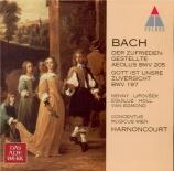 BACH - Harnoncourt - Gott ist unsre Zuversicht, cantate pour solistes, c