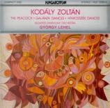KODALY - Lehel - Peacock variations (Le paon), pour orchestre
