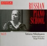 SCHUMANN - Nikolayeva - Drei Romanzen, pour piano op.28