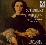 SCHUBERT - Quatuor Mosaïqu - Quatuor à cordes n°13 en la mineur op.29 D