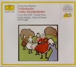 BRAHMS - Mathis - Neunundvierzig deutsche Volkslieder, quarante-neuf cha
