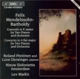 MENDELSSOHN-BARTHOLDY - Markiz - Concerto double pour deux pianos et orc