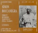 VERDI - Panizza - Simon Boccanegra, opéra en trois actes live MET 21 - 1 - 1939