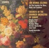 ZELENKA - Dütschler - Sonate en trio pour deux hautbois, basson et basse