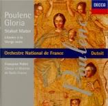 POULENC - Dutoit - Gloria, pour soprano, choeur mixte et orchestre en sol