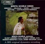 mélodies de Debussy, Milhaud, Ravel,...
