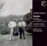KODALY - Luca - Duo pour violon et piano op.7