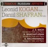 BACH - Kogan - Sonate pour violon et clavier n°1 en si mineur BWV.1014