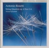 ROSETTI - Arioso-Quartett - Six quatuors à cordes op.6