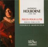 HOLBORNE - Marincola - Pièces pour luth