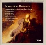 DURANTE - Neumann - Lamentations du Prophète Jérémie