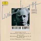 MOZART - Kempff - Concerto pour piano et orchestre n°20 en ré mineur K.4