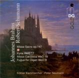 SCHUMANN - Neumann - Missa sacra, pour choeur à quatre voix avec orchestr