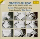 STRAVINSKY - Knussen - Le déluge (The flood), jeu musical pour voix et o