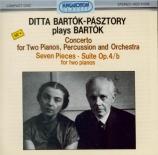 BARTOK - Bartok-Pasztory - Concerto pour deux pianos, percussions et orc