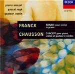 CHAUSSON - Amoyal - Concert pour piano, violon et quatuor à cordes op.21
