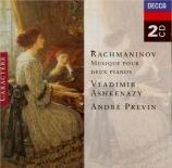 RACHMANINOV - Ashkenazy - Fantaisie-tableaux, suite pour deux pianos n°1