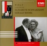 WOLF - Schwarzkopf - Der Genesene an die Hoffnung, pour voix et piano