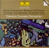 STRAVINSKY - Orpheus Chamber - Concerto pour orchestre de chambre en mi